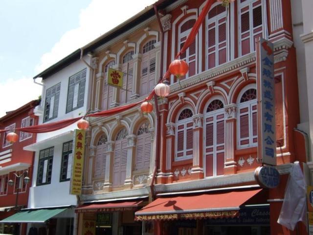 façades Singapour chinatown