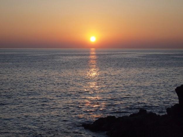 coucher de soleil Conque Terre
