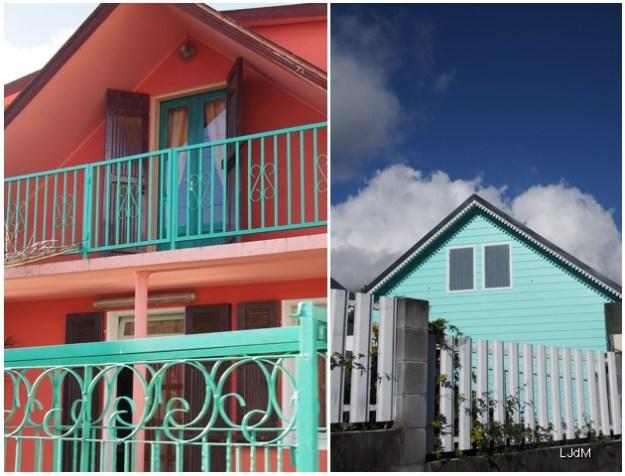 Maisons créoles à La Réunion