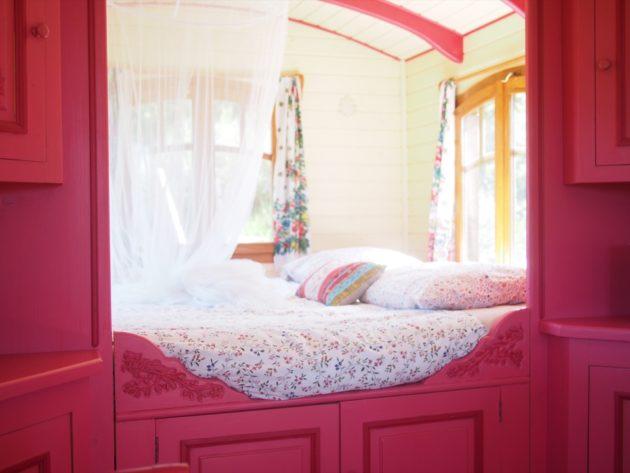dormir dans une roulotte