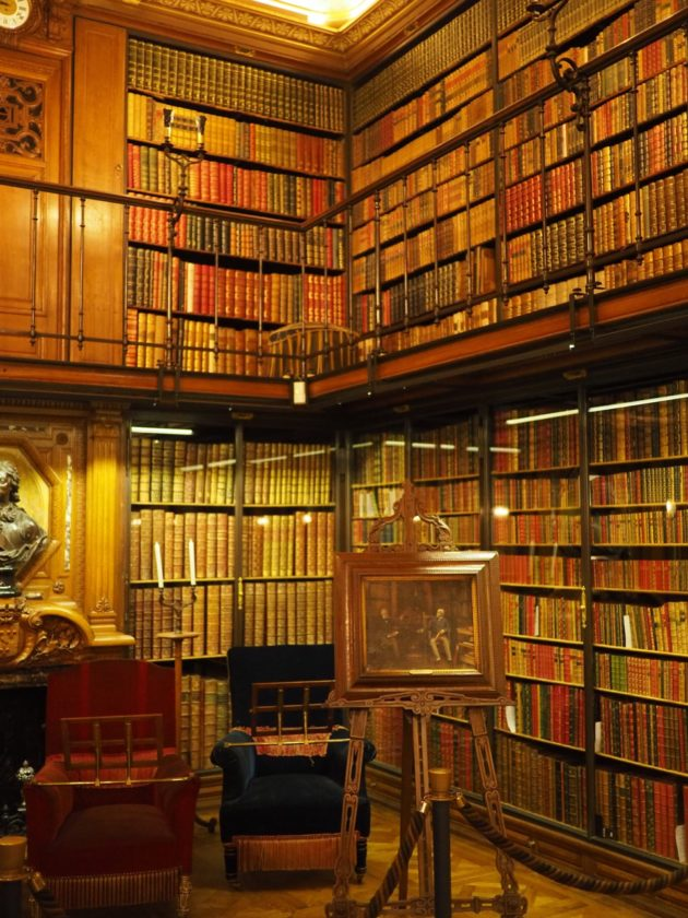 Bibliotheque chateau de chantilly