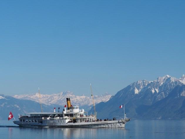 sur le lac à Lausanne