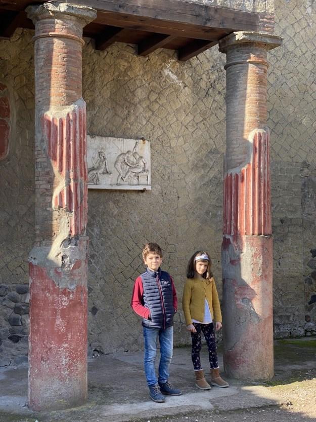 Herculaneum en famille