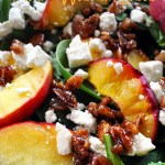 Peach Walnut Salad