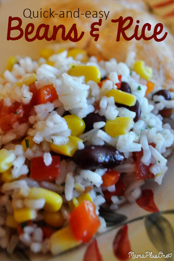 This quick Beans and Rice takes only minutes to make. It's so delicious and easy-- a great side dish for any meal!