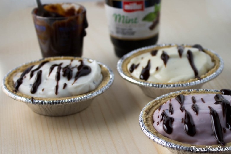 Make indulgent no-bake ice cream inspired pies with Muller yogurt. These take minutes to make and are a hit at parties... and because it's yogurt, it can be an indulgent dessert OR a breakfast! #ad #cbias #mullermoment