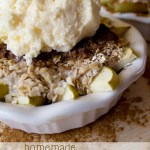 Easy Apple Crisp for One or Two