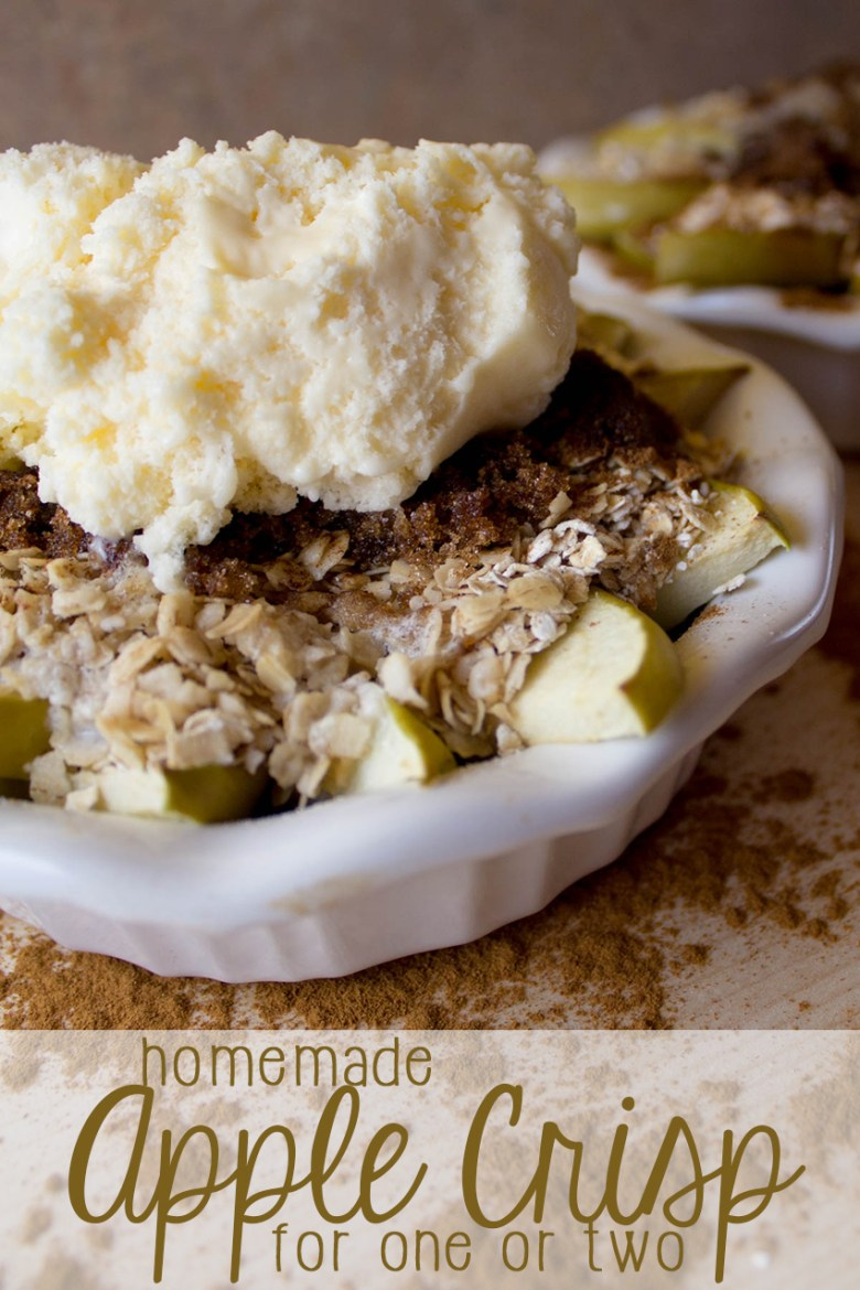 A heart healthy dessert featuring oatmeal ad fresh sliced apples, you'll love this quick and easy dessert perfect for one or two. It's a great, homemade, easy dessert that takes minutes to prepare and tastes fresh!