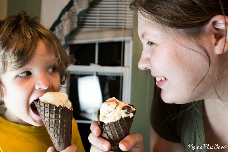 Forget the extensive preparation-- here are 50 ideas for you to bond with your child at home so you don't even have to leave the house! I love spending time with kids and enjoying family time. Between hopscotch, puppet shows, and Edy's Frozen Custard parties, there are a TON of ideas here! #frozencustardtime #ad