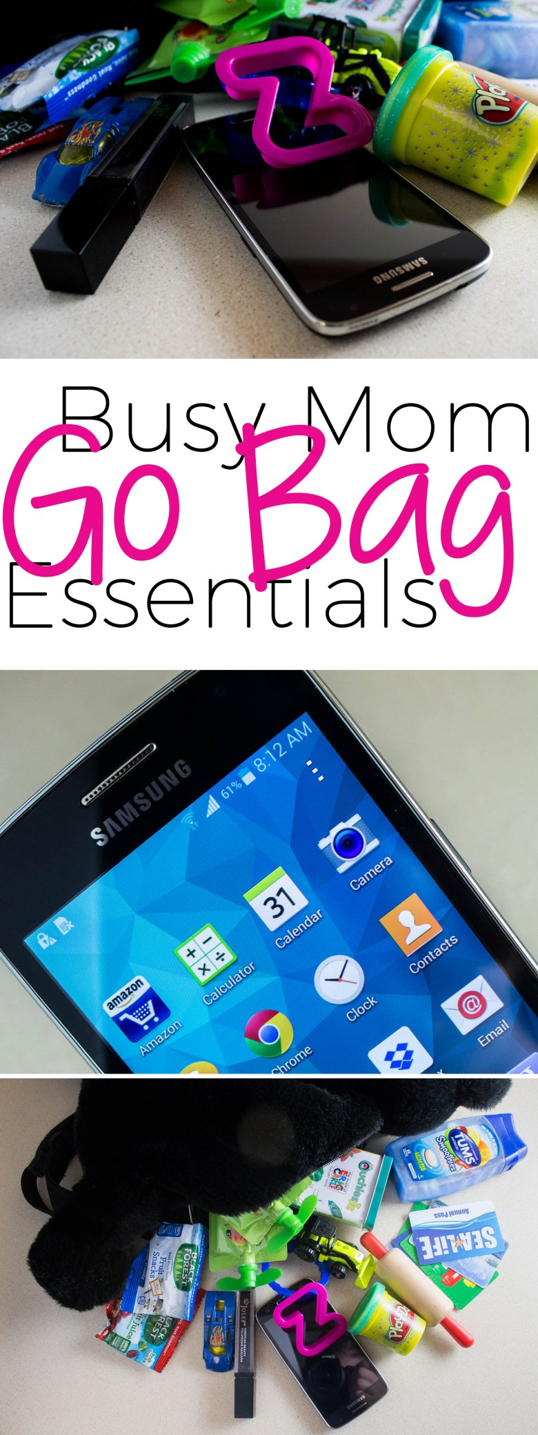 As a busy mom, there are some things you just shouldn't leave home without! Here are my busy mom bag essentials that I'd never think to head out without-- read why they made the list! #ChangingPrepaid #Ad