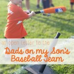 An Open Letter to the Dads of my Son's Baseball Team