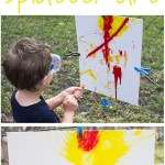 Backyard Splatter Painting