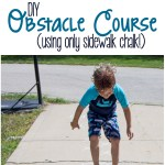 Backyard Obstacle Course– Using ONLY Chalk!