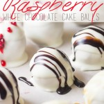 Raspberry White Chocolate Cake Balls