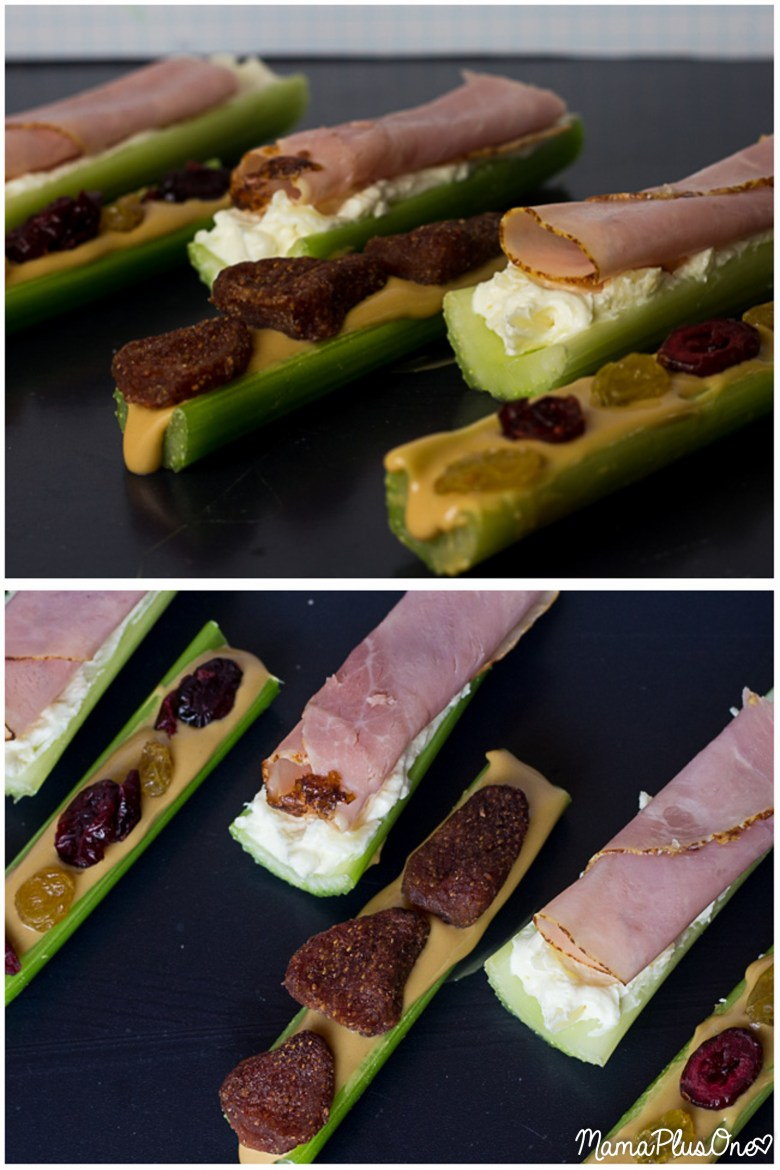 If you love easy after school snacks for your family, you'll love this after school snack recipe for Ham on a Log! You've heard of ants on a log, but this is a twist on the classic. Simply make a delicious cream cheese spread, spread it on celery, and top with Eckrich Deli Meat ham! #EckrichFlavor #AskForEckrich