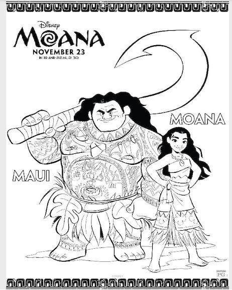 Free Disney's Moana Printable Activity and Coloring Sheets