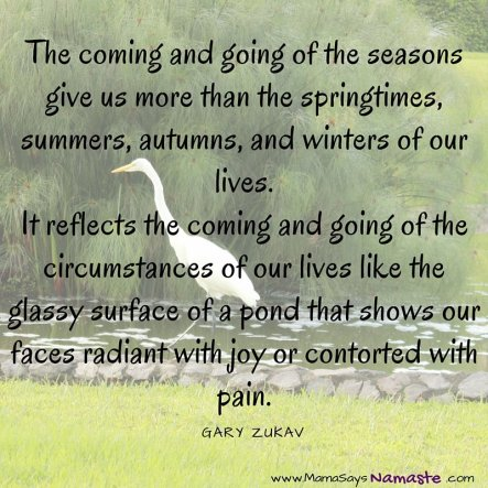coming and going of seasons