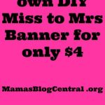 DIY Miss to Mrs Banner