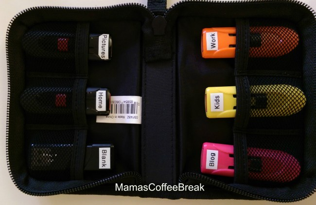 How to Organize USB flash drives MamasCoffeeBreak
