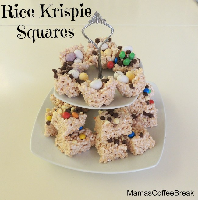 Rice Krispie Squares MamasCoffeeBreak