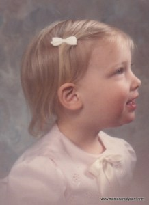 Leah as a baby