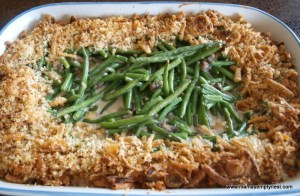 Green Bean Casserole ready to eat