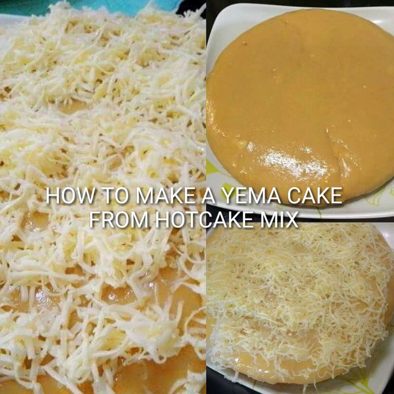 Yema Cake using Maya Hotcake Mix