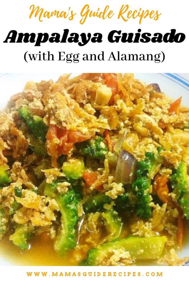 Ampalaya Guisado (with Egg and Alamang)