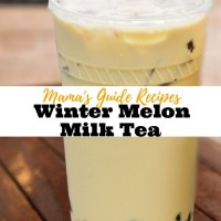 Winter Melon Milk Tea
