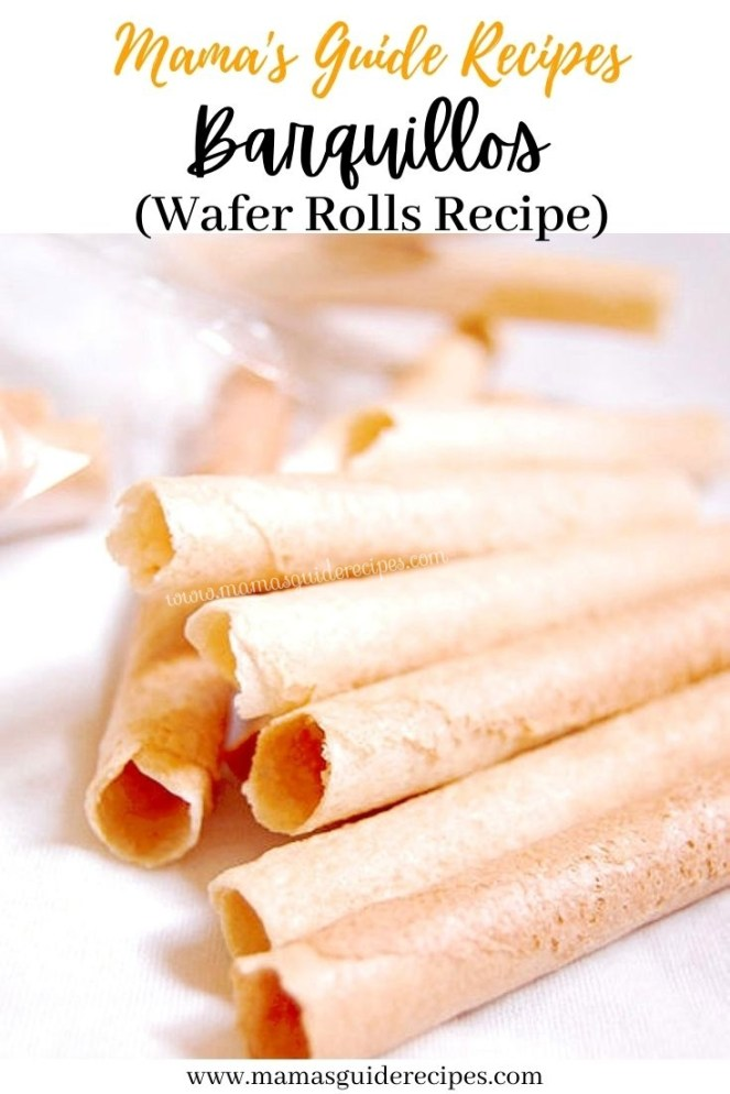 Barquillos (Wafer Rolls)