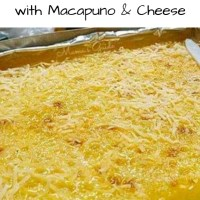 Cassava Cake with Macapuno and Cheese