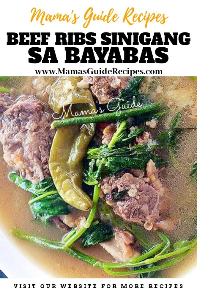 Beef Ribs Sinigang sa Bayabas