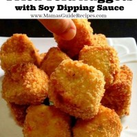 Fried Tofu Nuggets with Soy Dipping Sauce