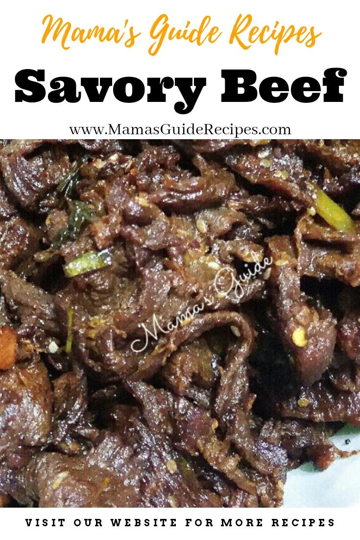 Savory Beef