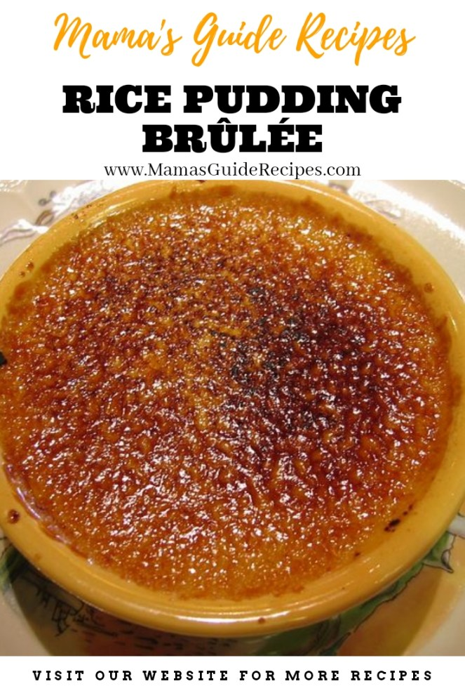 RICE PUDDING BRÛLÉE