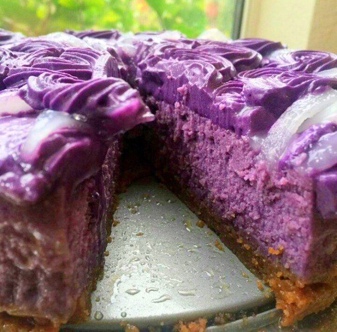 Ube Purple Yam Cheesecake