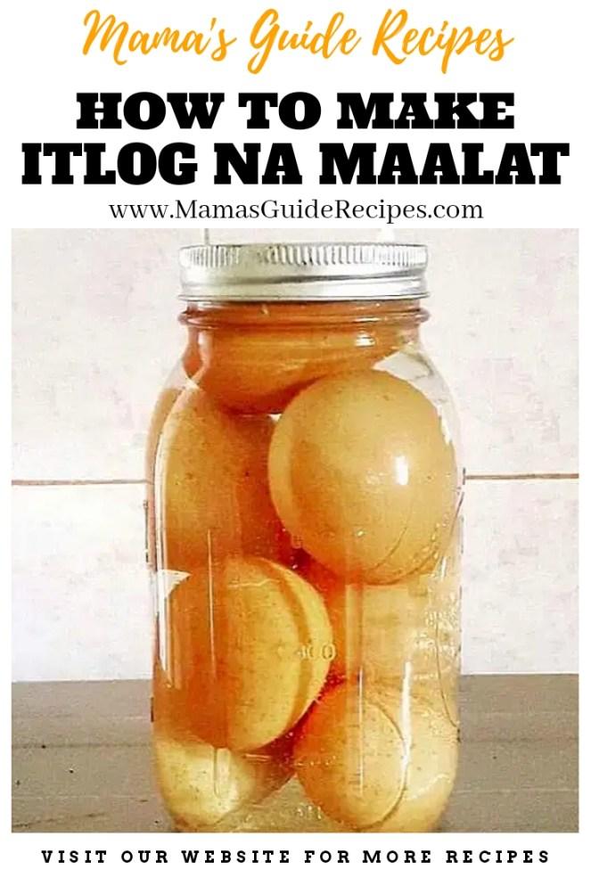How to make Itlog na Maalat