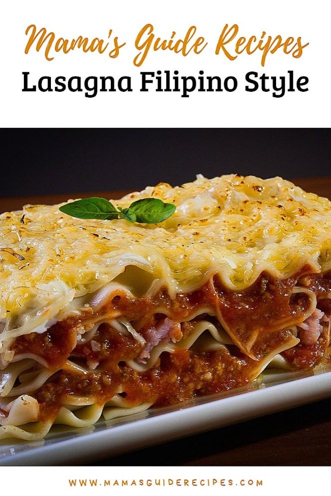 Lasagna Filipino Style