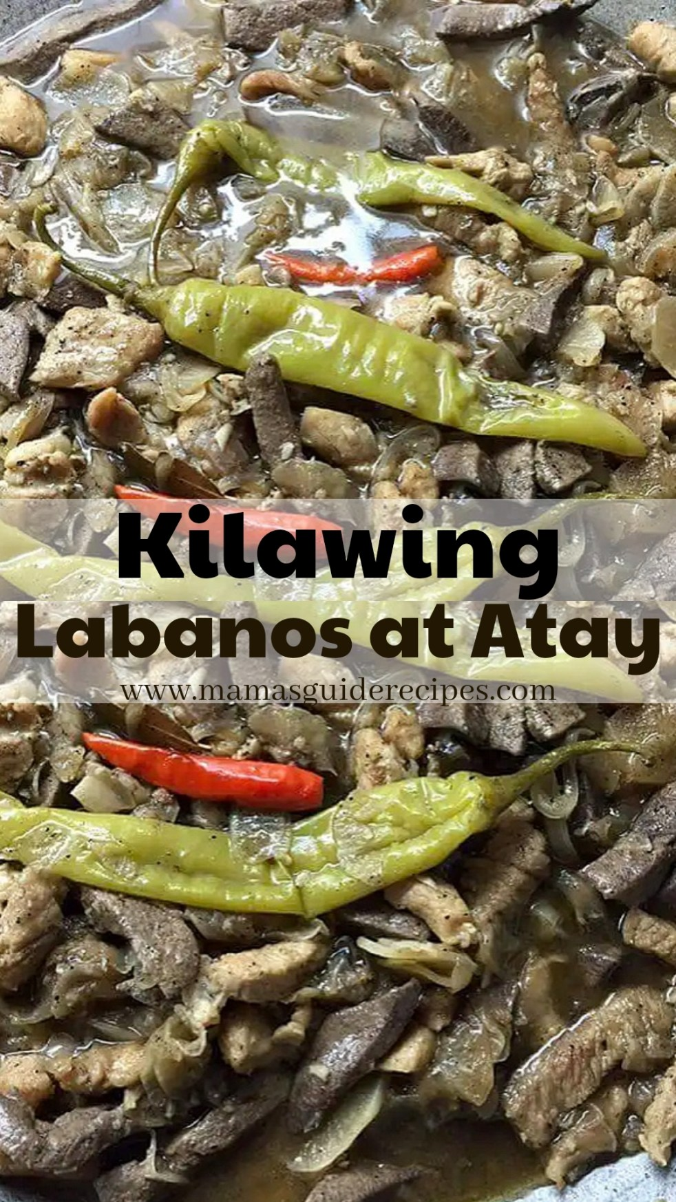 Kilawing Labanos at Atay