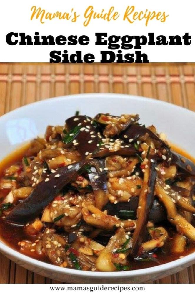 Chinese Eggplant Side Dish