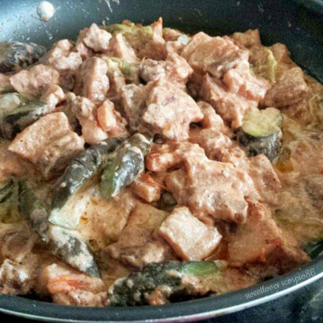 Pork Binagoongan sa Gata