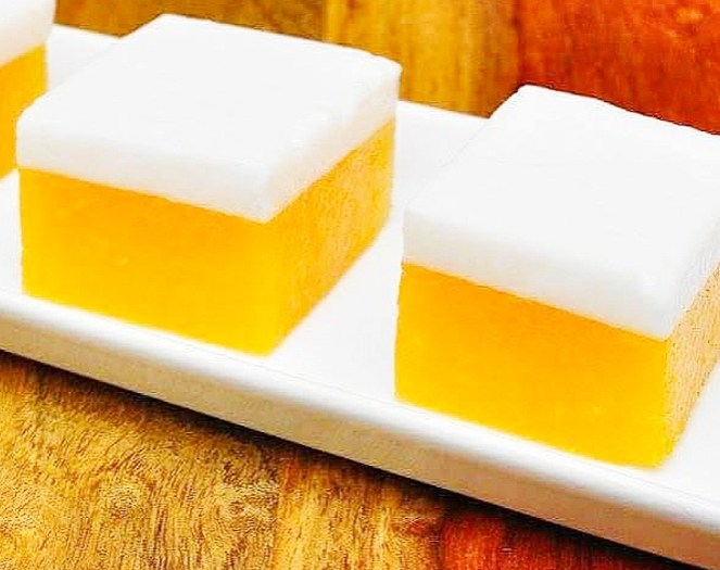 Mango Jelly Coconut Cubes