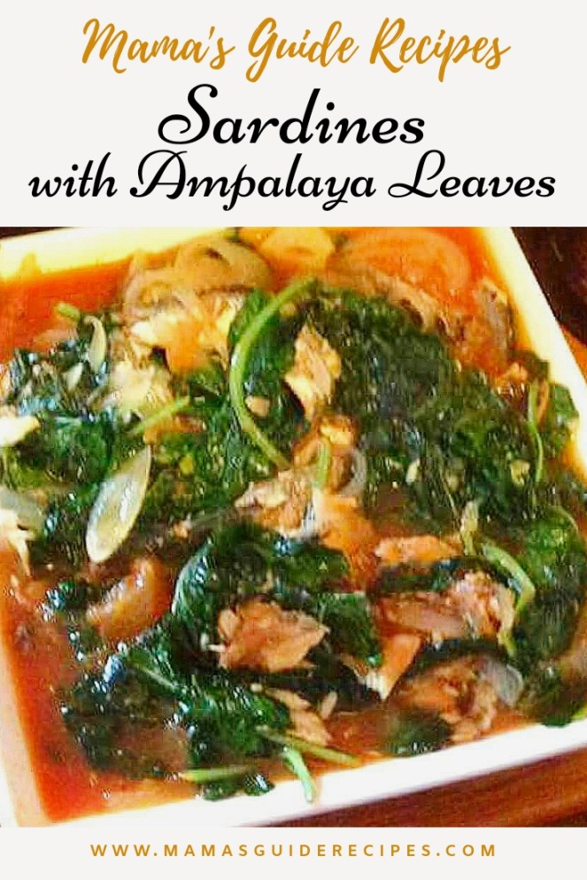 Ampalaya Leaves with Sardines