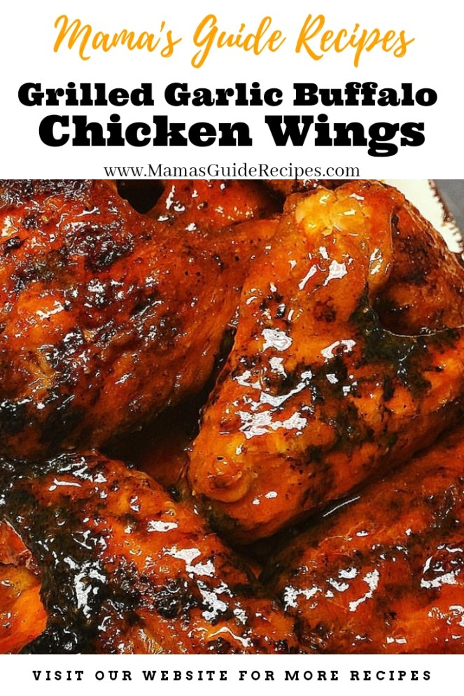 Grilled Garlic Buffalo Chicken Wings
