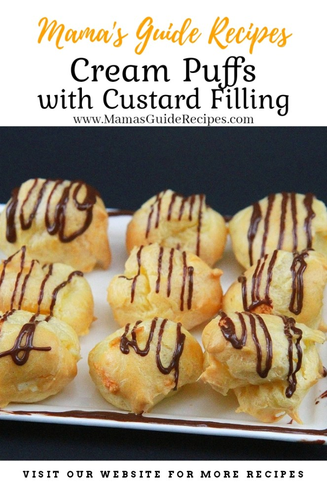 Creme Puffs with Custard Filling