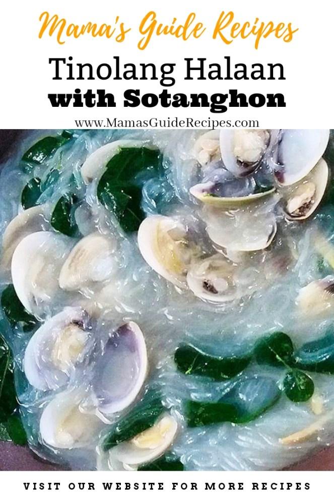 Tinolang Halaan with Sotanghon