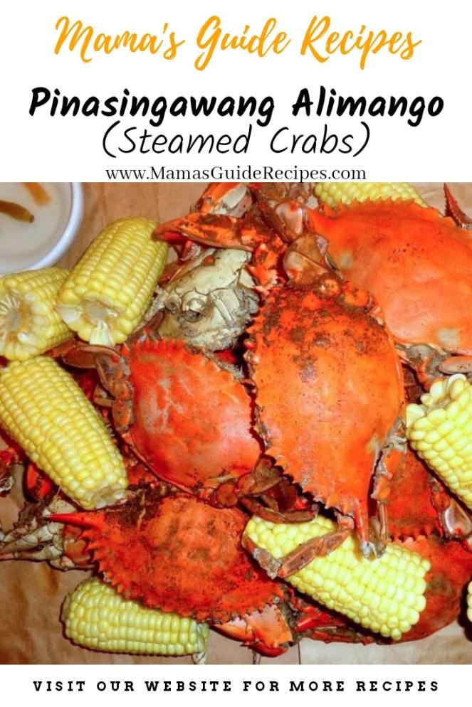 Pinasingawang Alimango (Steamed Crabs)
