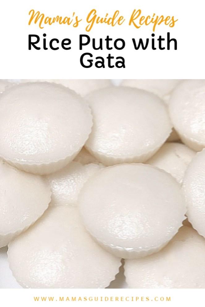 Rice Puto with Gata