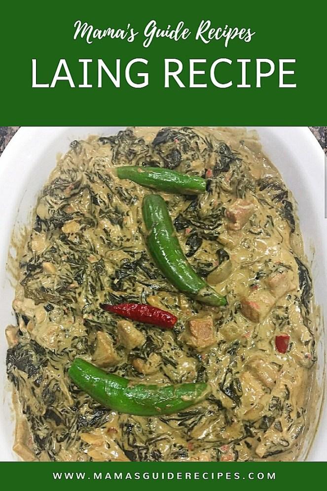 Laing Recipe, Mamas Guide Laing Recipe, paano magluto ng laing ng bicol, original laing recipe