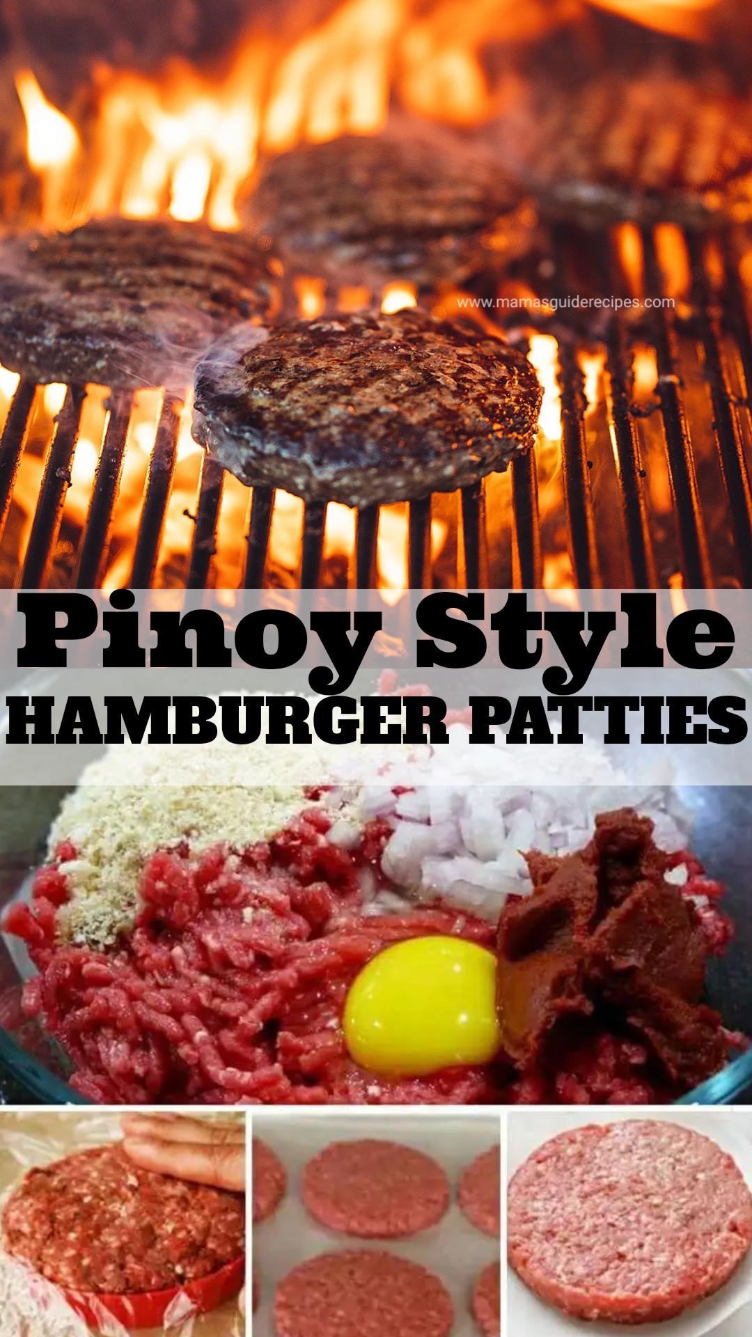 Pinoy Style Hamburger Patties , Mama\u0027s Guide Recipes